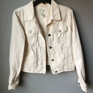 Forever 21 Beige Jean Jacket Size Medium
